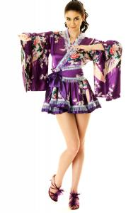 Royal Purple Kimono Dress
