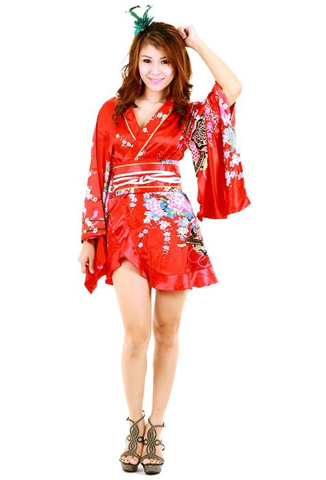 Red Kimono Robe - Short Yukata   Kimono - Neve Bianca 75d0e2182