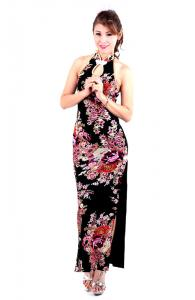 Floral Cheongsam Gown
