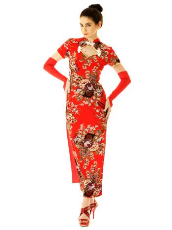 Long Elegant Oriental Gown