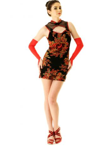 Lace Top Cheongsam