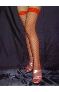 Red Fishnet Stockings